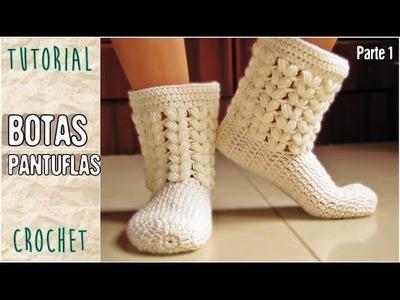 Pantuflas a crochet, todos los talles (Parte 1.3)
