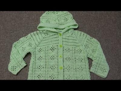 Suéter 3 a 4 años Crochet parte 3 de 4
