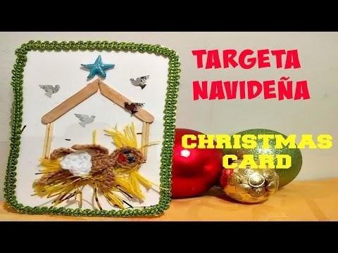 TARJETA NAVIDAD CON NIÑITO JESUS TEJIDO CON CROCHET.CHRISTMAS CARD