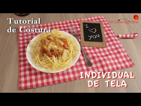Tutorial #30 - Como hacer un Individual de Tela - how to make a fabric placemat