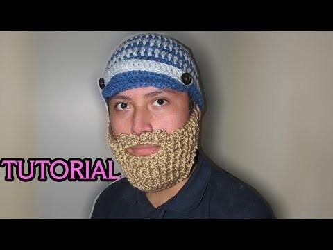 Tutorial de cómo hacer Gorro con Visera y Barba a crochet