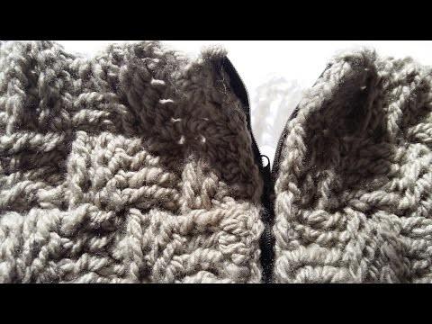 Tutorial de como poner a crochet tus cremalleras,bolsos,jerseys,chaquetones
