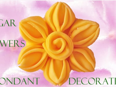 Como hacer decoraciones de azúcar con fondant - How to make decorations with fondant sugar