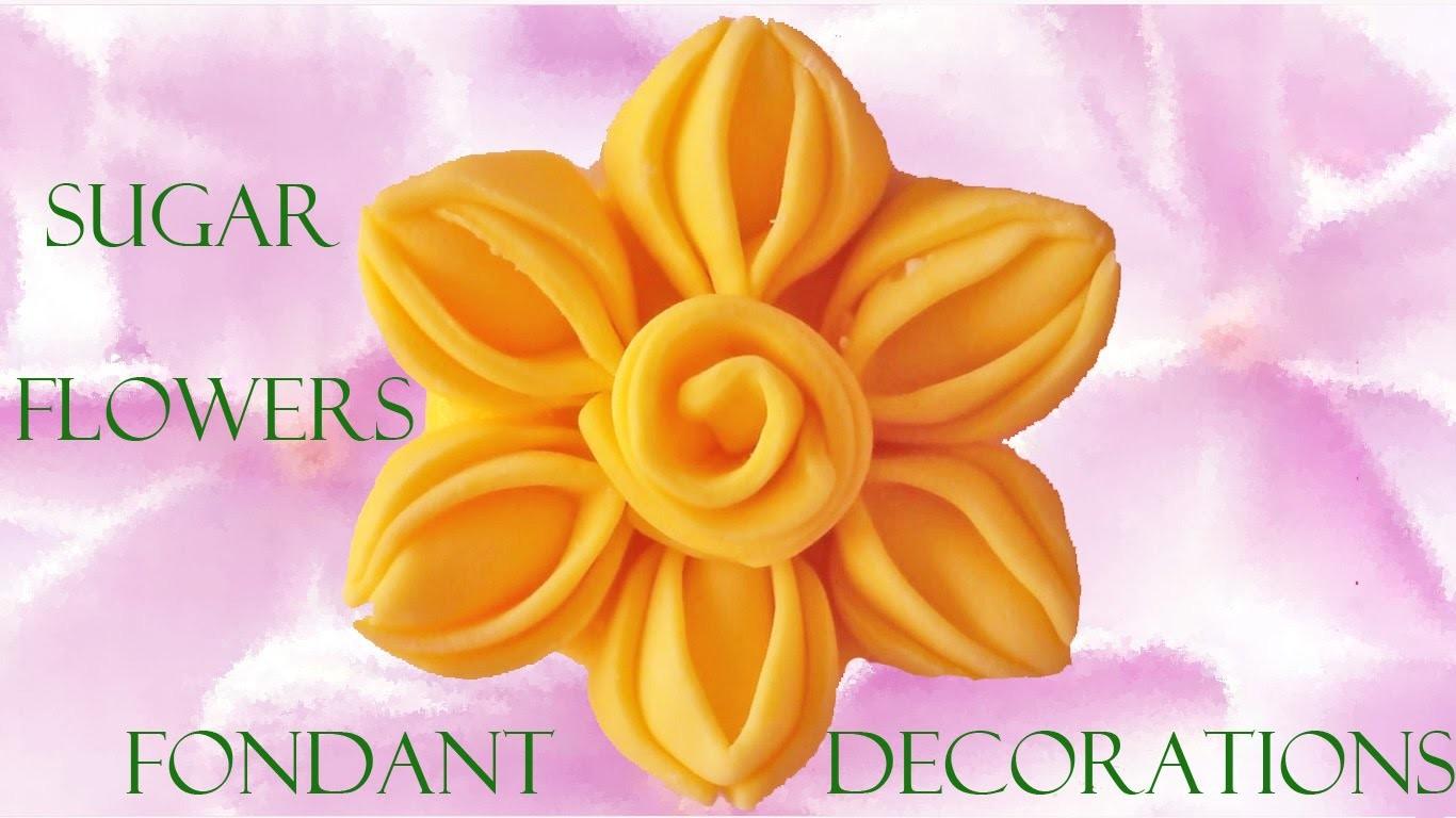Como hacer decoraciones de azúcar con fondant - How to make decorations with fondant sugar