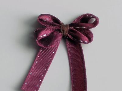 Como hacer un lazo pequeño   How to tie a tiny ribbon bow