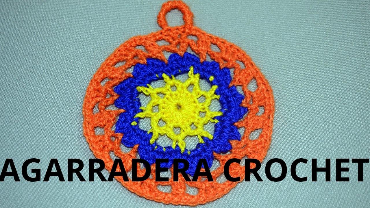 Agarradera Redonda en tejido crochet tutorial paso a paso.