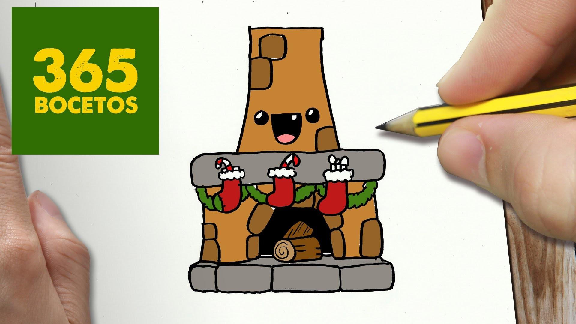 Como dibujar chimenea para navidad paso a paso dibujos - Dibujos de chimeneas de navidad ...