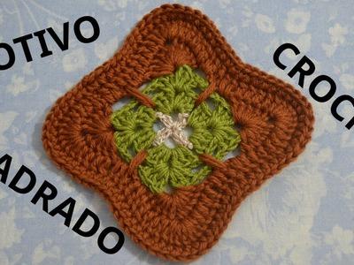 Como tejer un Motivo Cuadrado en tejido crochet tutorial paso a paso.