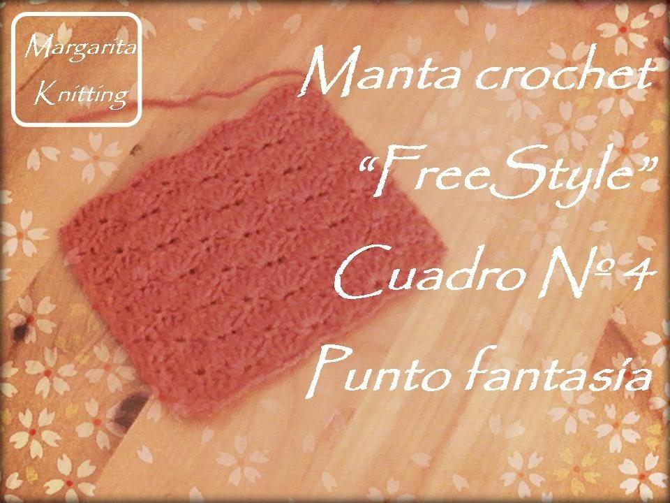Manta a crochet FreeStyle cuadro 4: punto fantasía (diestro)