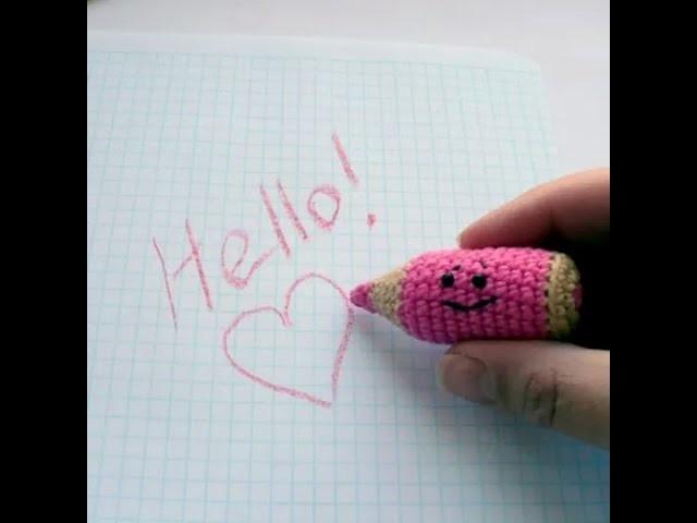 Tutorial - Lápiz a Crochet