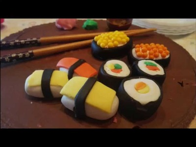How to make Sushi Fondant. Hacer Sushi de Fondant
