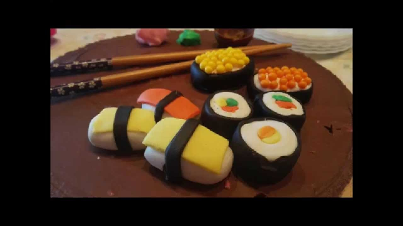 How to make Sushi Fondant. Hacer Sushi de Fondant