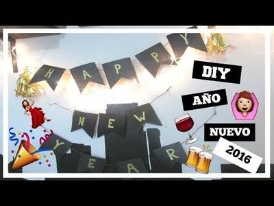 DIY | DECORA TU FIESTA DE AÑO NUEVO | HAPPY NEW YEAR 2016 | Edgar Alfaro
