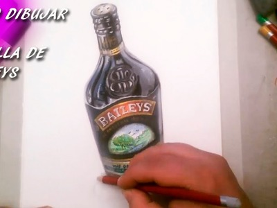 Como Dibujar Una Botella de Baileys I How to draw a bottle of Baileys