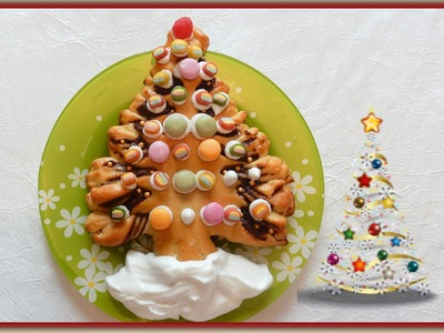 How to make a cake with Nutella recipes Christmas Tree cómo hacer un pastel con recetas de Nutella