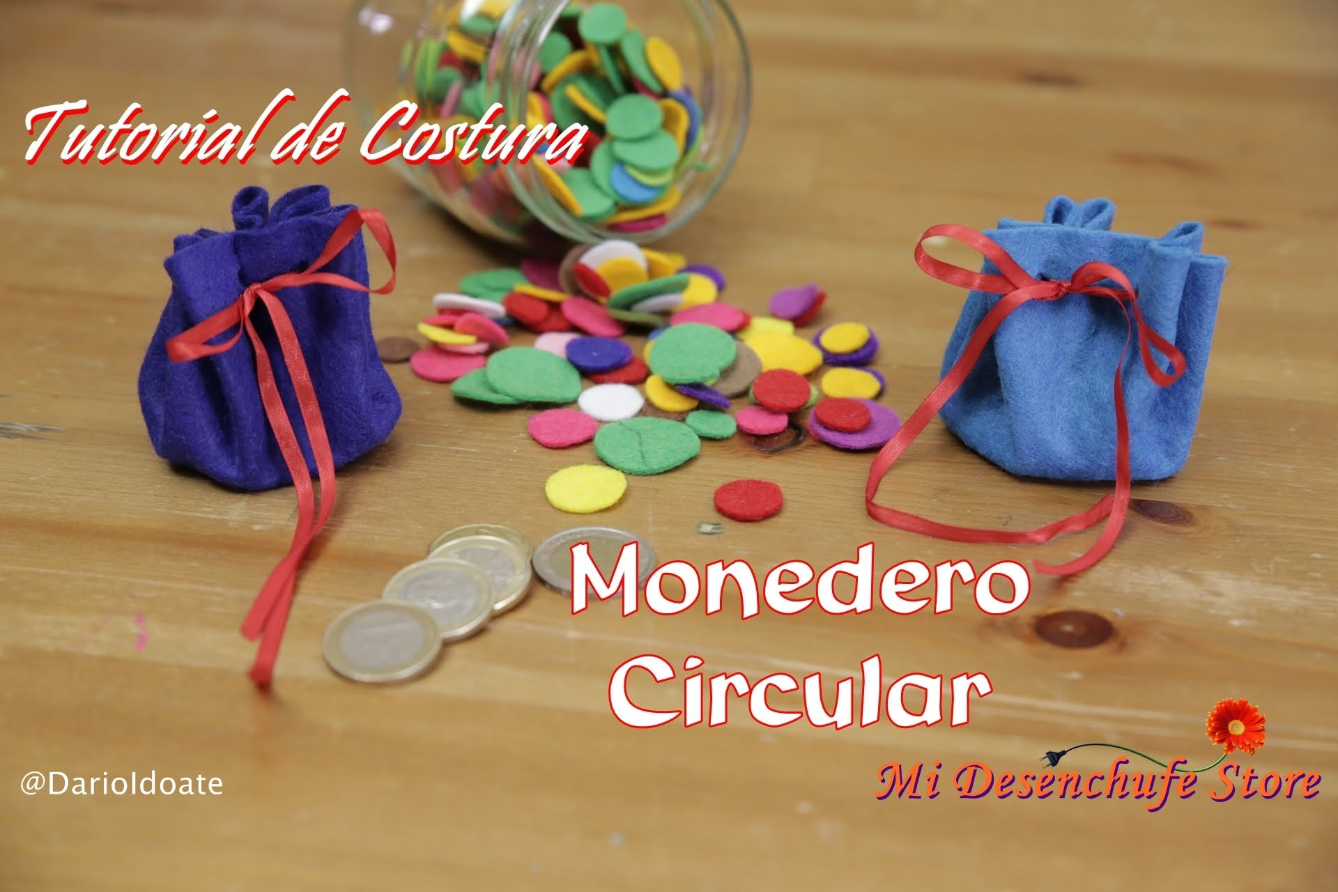 Tutorial #25 - Como hacer un Monedero circular -  How to make a purse round