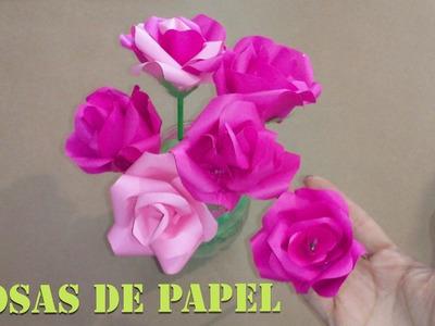 Como hacer rosas de papel