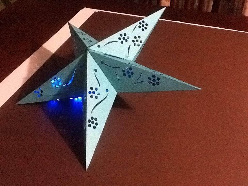 Como hacer una estrella de paper para navidad. how to make a paper Christmas star