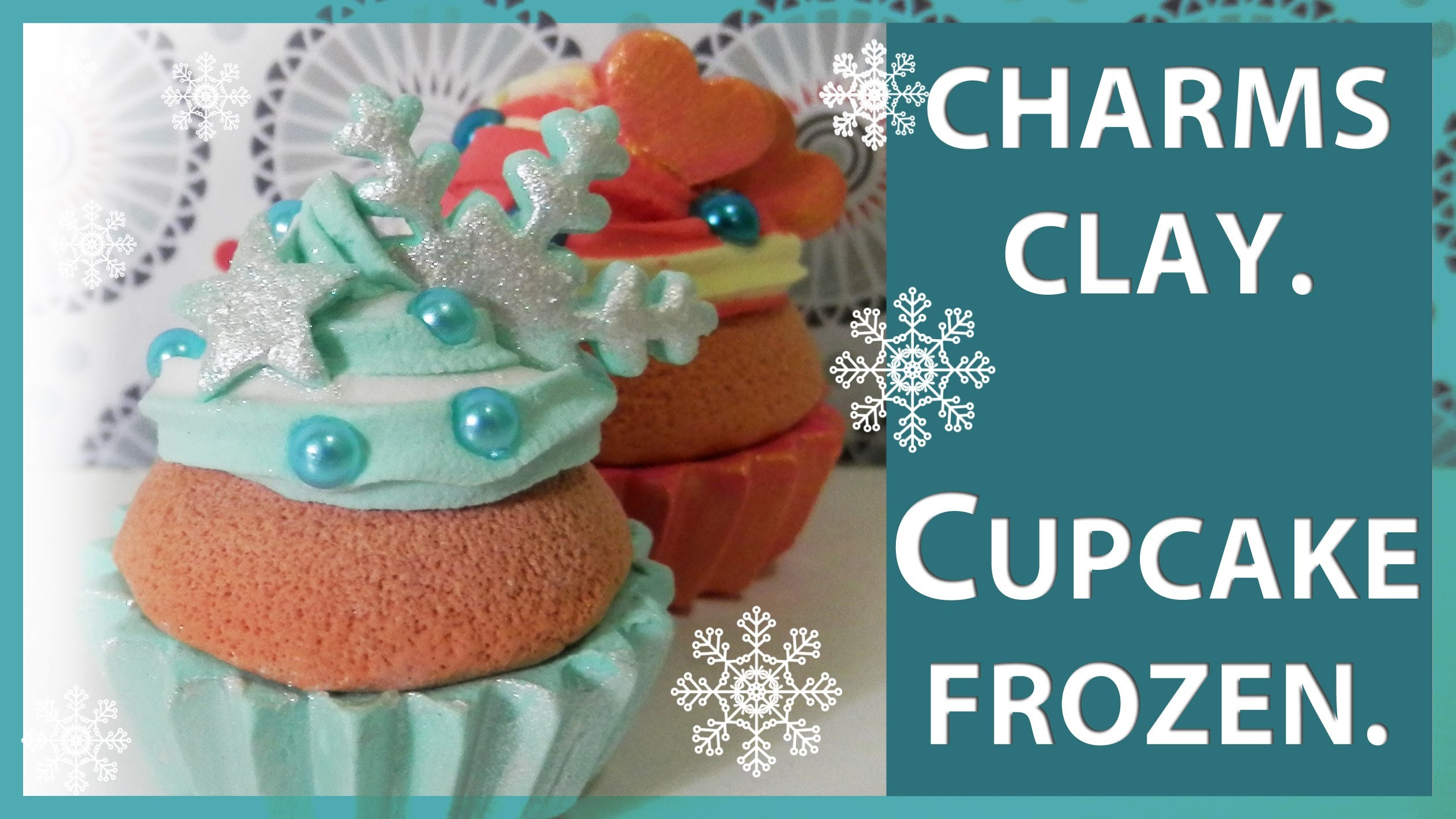 CUPCAKE TUTORIAL. PORCELANA FRIA, FIMO, PAPER CLAY. FROZEN COLORS. KAWAII AND CUTE.
