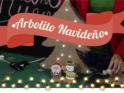 #2 DECORACIÓN NAVIDEÑA - DIY Cómo hacer un arbolito de Navidad con cartón | Así de Fácil