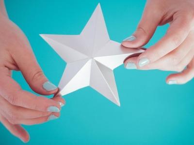 DIY: Cómo hacer Estrellas de Papel. Manualidades Navideñas - Craftybox
