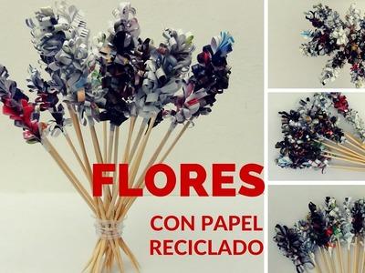 DIY Cómo hacer flores (jacintos) con papel reciclado - Hyacinth Flowers out of recycled paper