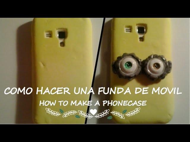 DIY  Cómo hacer una funda de móvil. How to make a phonecase