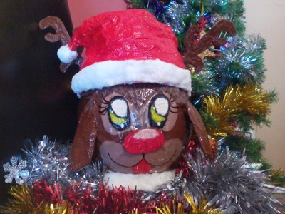 Como hacer un reno de navidad. manualidades navideñas