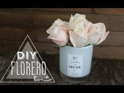 DIY EXPRESS: FLORERO BONITO + COMO QUITAR CERA DE UN VASO | DIY FÁCIL