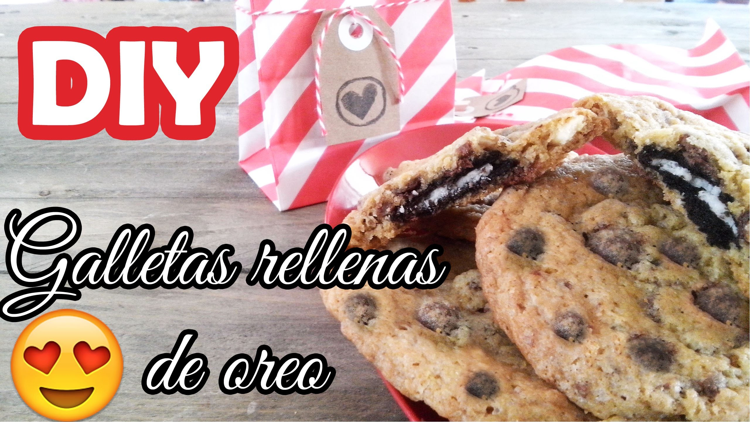 DIY ♥ Galletas rellenas de oreo ♥ San Valentin