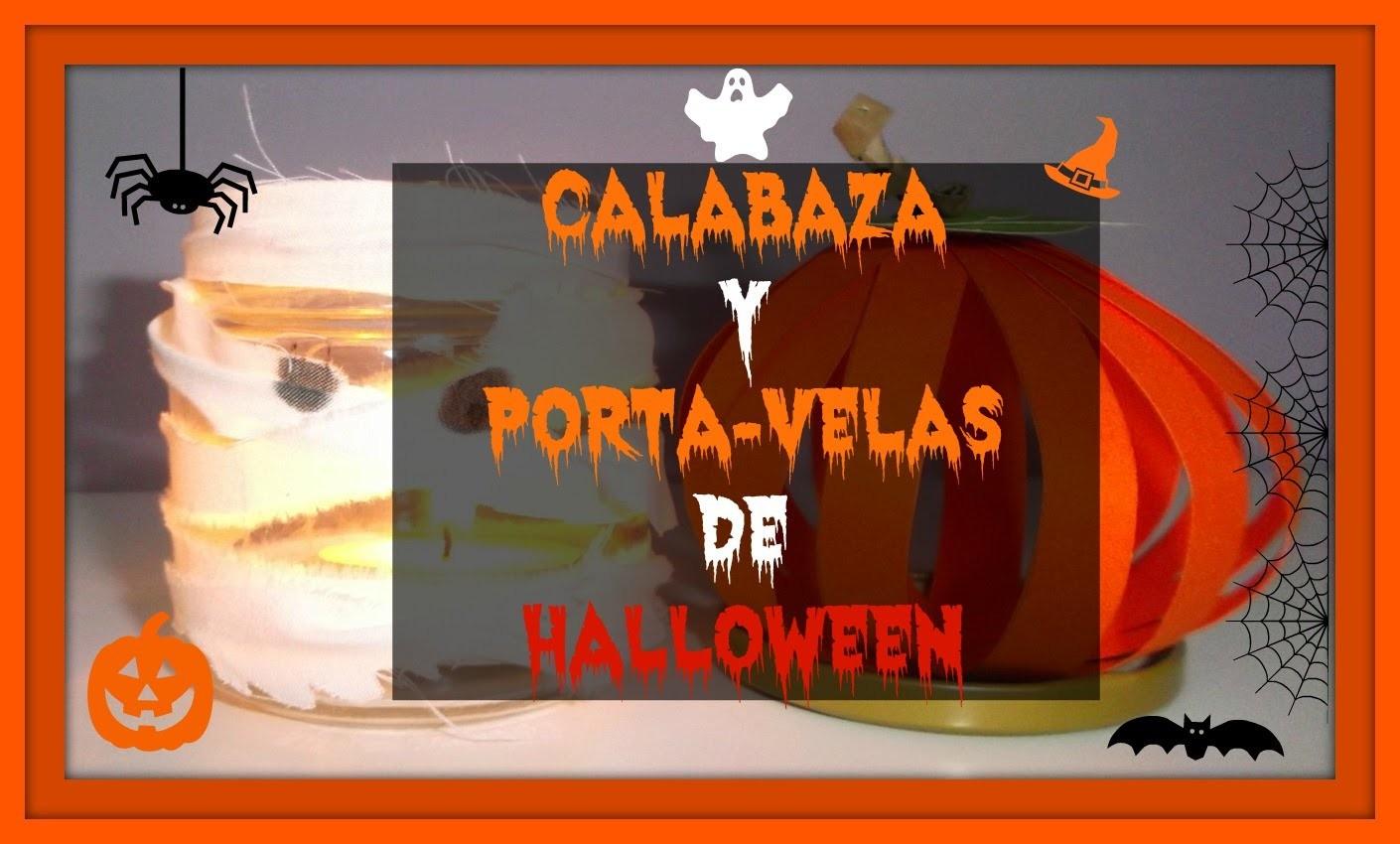 DIY ~ PORTA-VELAS MOMIA Y CALABAZA (HALLOWEEN) | María Marvelous