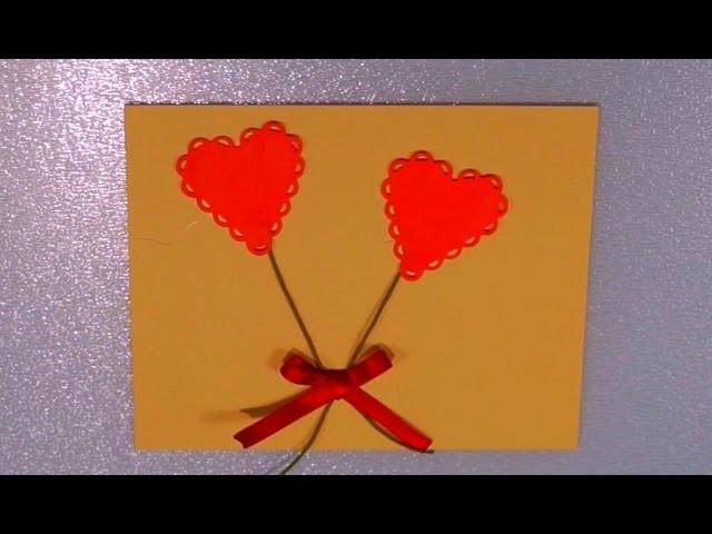 DIY - Tarjeta con corazón para San Valentín