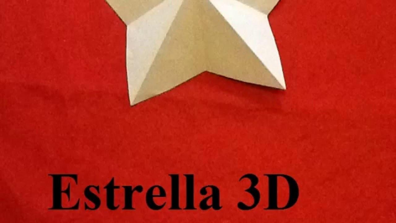 Especial Navidad. Estrella 3D. Origami. Manualidades Navideñas. Manos a la Obra