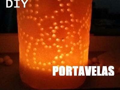 DIY Portavelas sencillo pasta de sal.arcilla.barro. . [MisMadeleinas]