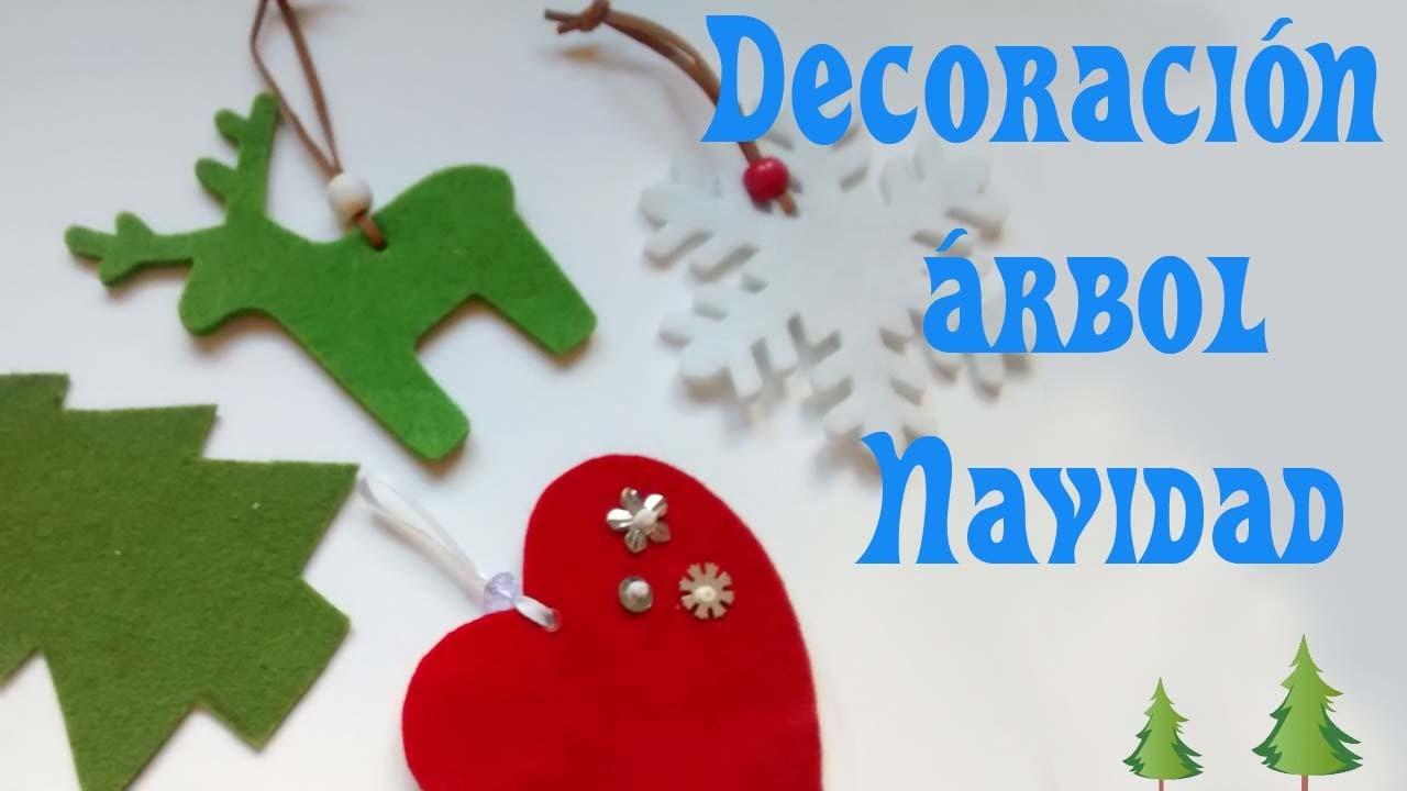 Adornos Fieltro Navidad. Felt Christmas decorations.