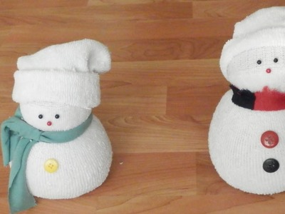 Manualidades: Muñeco de nieve con calcetín | Christmas Decorations: Sock Snowman