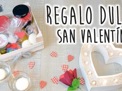 Cesta de regalos dulces para San Valentín - DIY