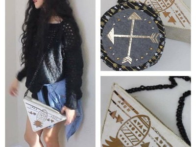 DIY  |CARTERA TRIANGULAR |  SIN COSER | GEOMETRIC PURSE