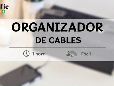 Cómo hacer un organizador de cables con una caja · Handfie DIY