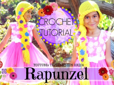 Crochet PELUCA DE RAPUNZEL | Tejiendo Con Erica
