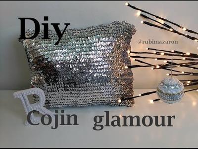 Diy. Cojin glamour de lentejuelas