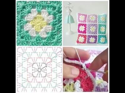 Mini-Tutorial Cojín hecho de Grannys a Crochet