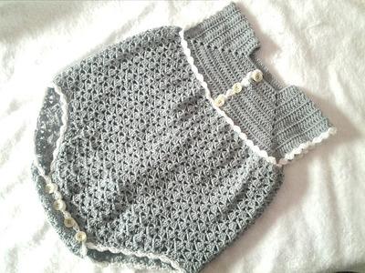 Pelele o enterizo a crochet parte 1  #tutorial #paso a paso #DIY