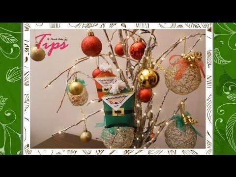 Arbol de navidad con ramas secas ♥ - DIY - Manualidades de Navidad