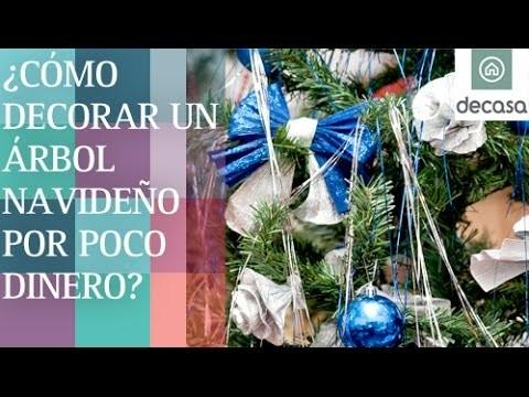 ¿Cómo decorar un árbol navideño por poco dinero? | DIY Navidad