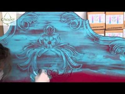 DIY cabecero con pintura Chalky