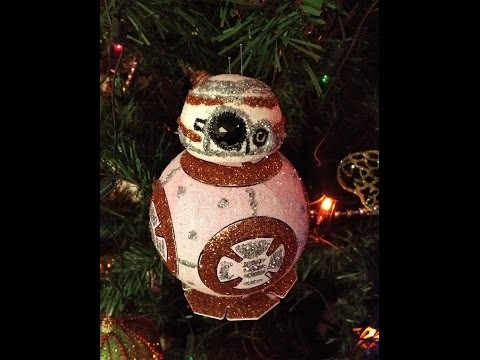 DIY Decora  esfera navideña BB-8 sphero star wars,star wars bb8 christmas ornament