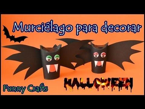DIY    Murciélago para decorar en Halloween