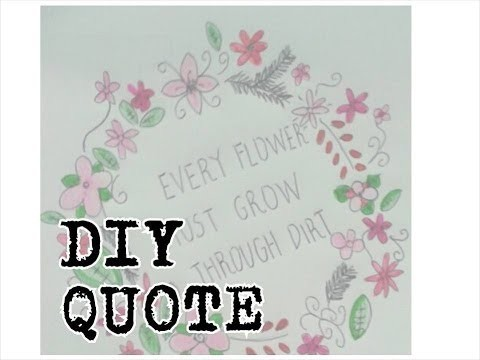 DIY: Quote o frase con flores