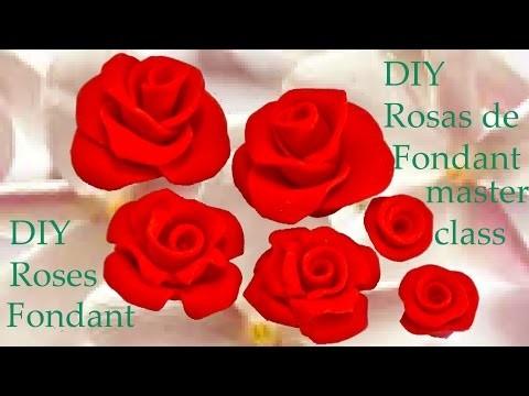 DIY rosas rojas de fondant día de las madres -fondant red roses Mothers Day